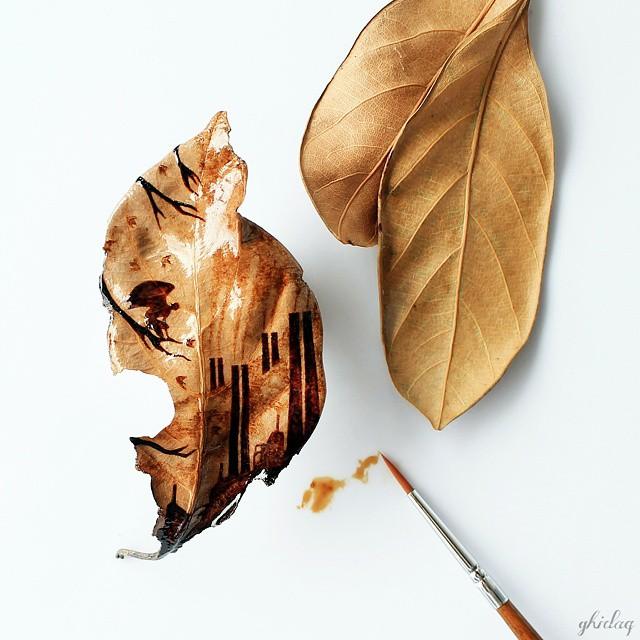 hojas de cafe pintadas 12