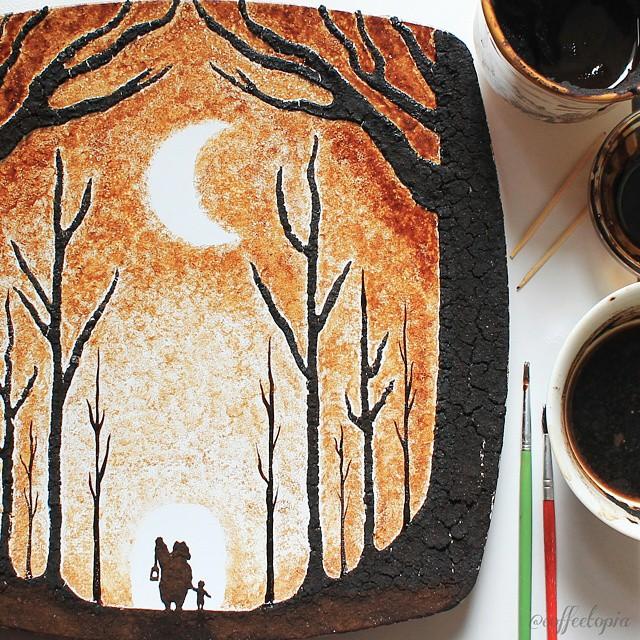 hojas de cafe pintadas 13