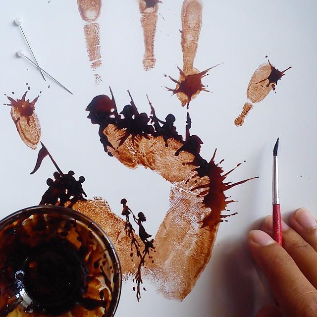 hojas de cafe pintadas 14
