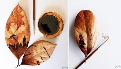 hojas de cafe pintadas 2
