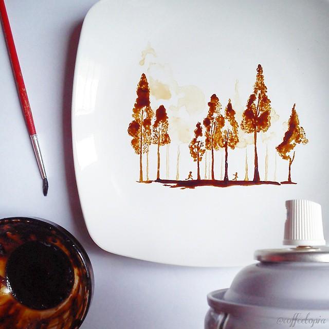 hojas de cafe pintadas 3