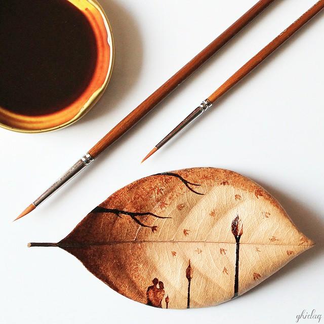 hojas de cafe pintadas 5