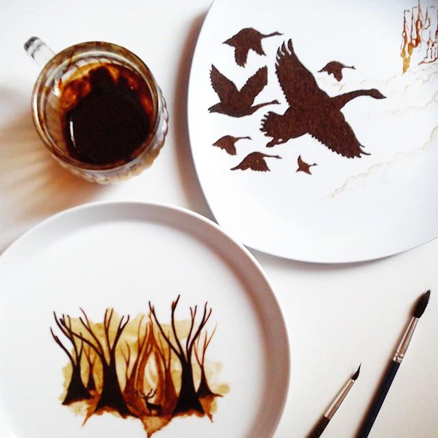 hojas de cafe pintadas 7