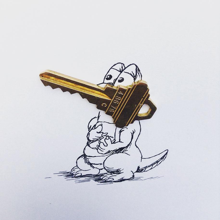 ilustraciones objetos cotidianos 14