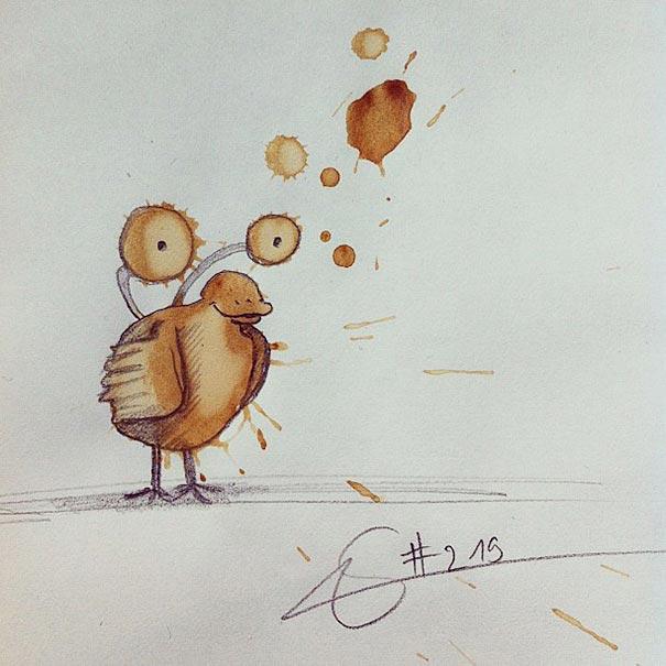 manchas de cafe monstruitos 5