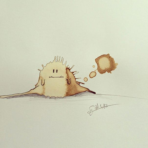 manchas de cafe monstruitos 9