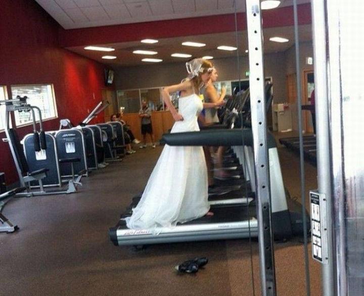 novia poniendose en forma