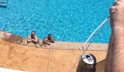 beber piscina