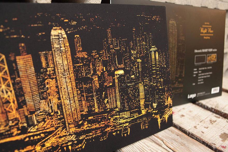 coloreando una ciudad de noche 10