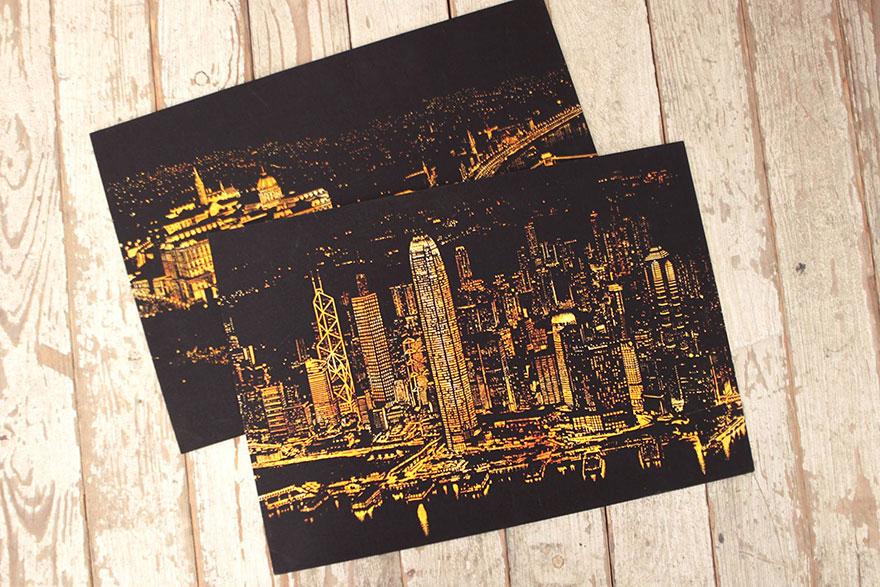 coloreando una ciudad de noche 4