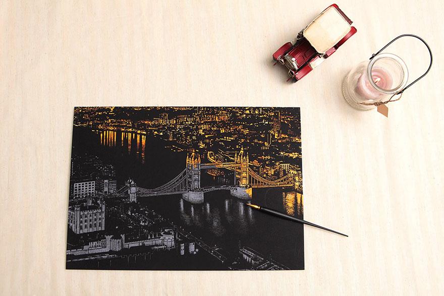coloreando una ciudad de noche 6