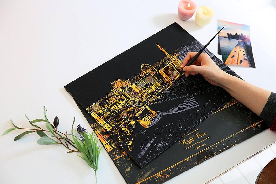 coloreando una ciudad de noche 9