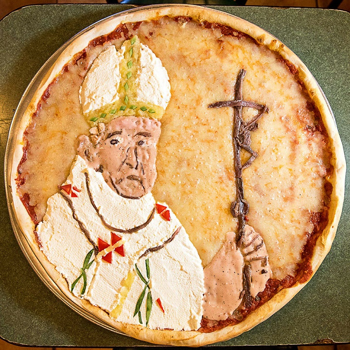 la pizza del Papa Francisco