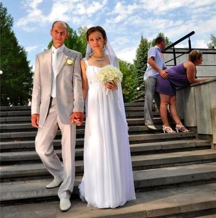 la tipica foto de una boda