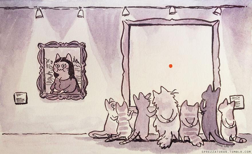 cosas que pasan en un museo para gatos