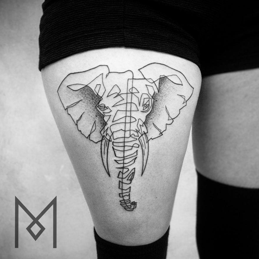 tatuajes una sola linea 12