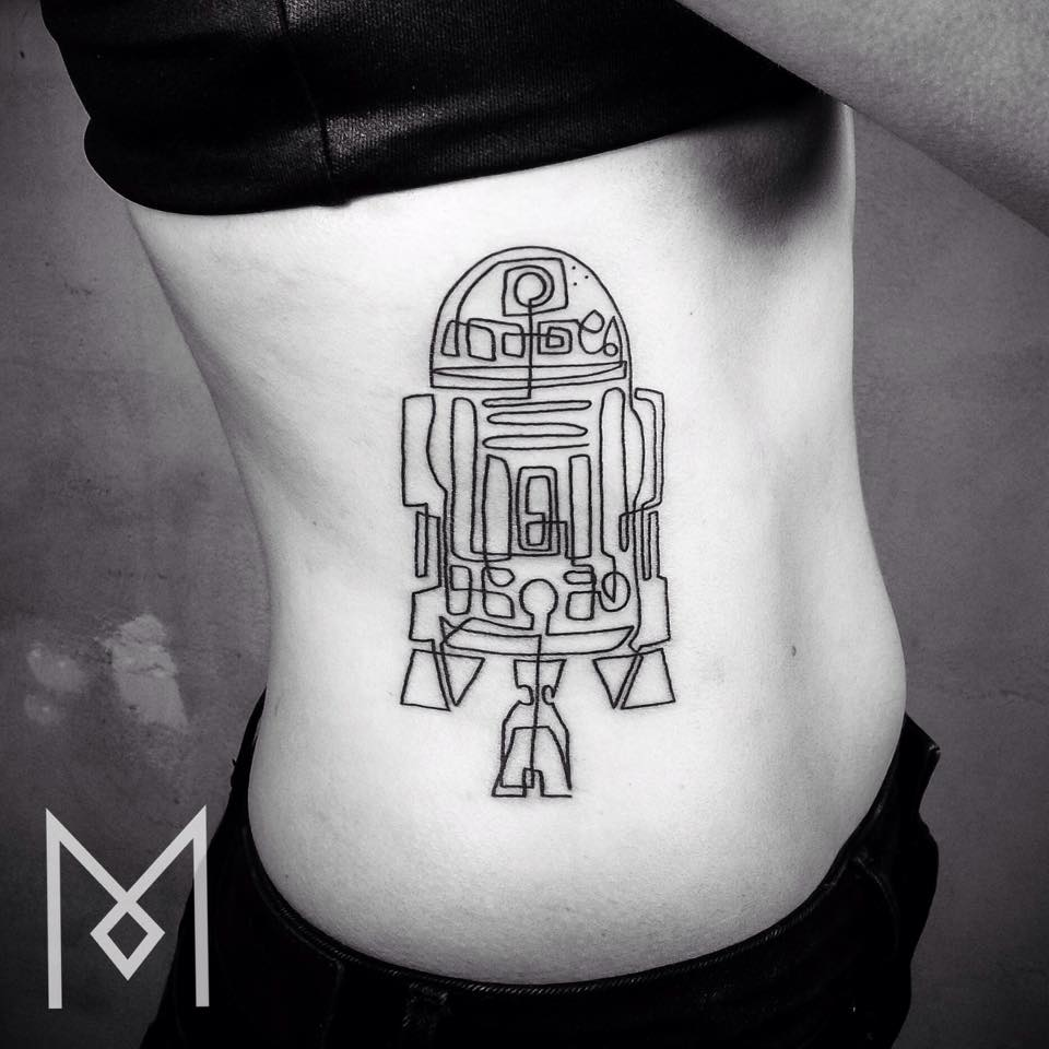 tatuajes una sola linea 9