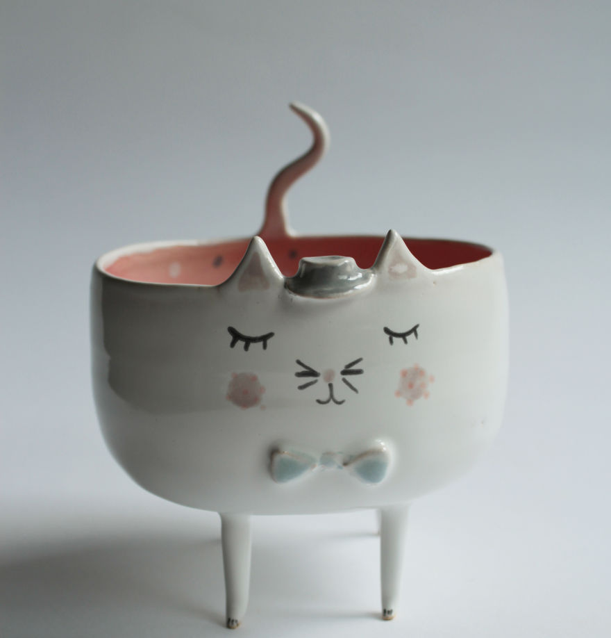 tazas de ceramica animales 1