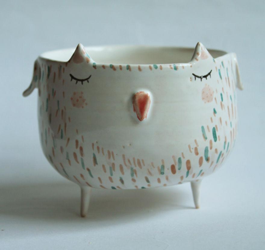 tazas de ceramica animales 10