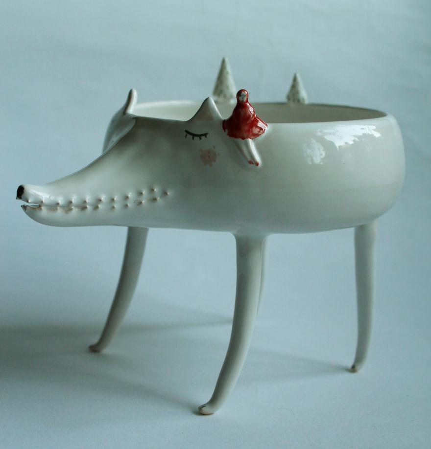 tazas de ceramica animales 2