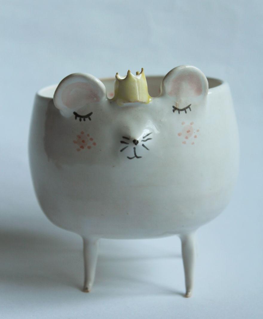 tazas de ceramica animales 6