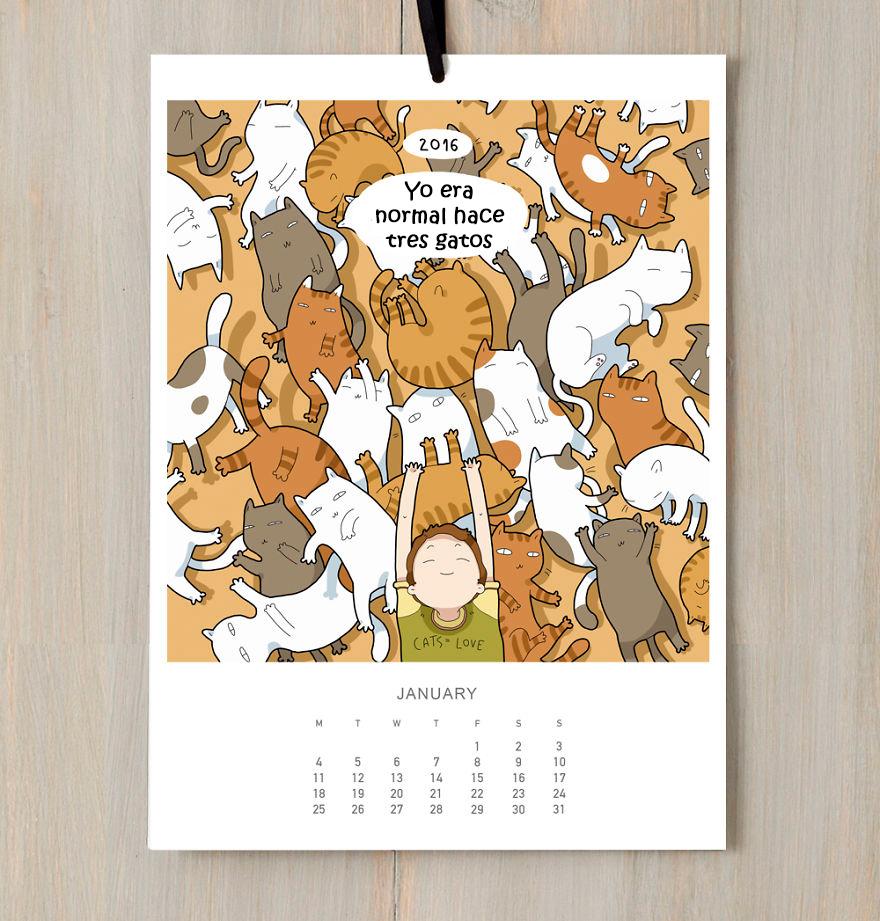 calendario gatuno 1