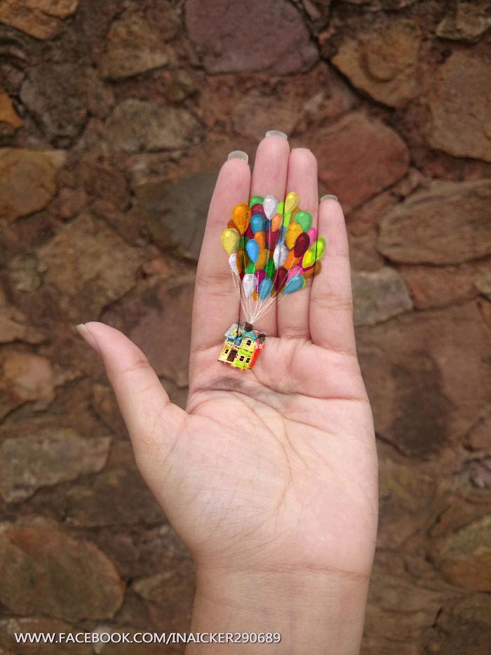 dibujos 3D en la palma de la mano 2