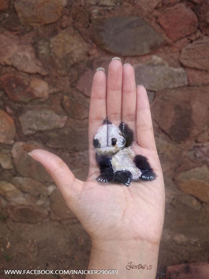 dibujos 3D en la palma de la mano 5