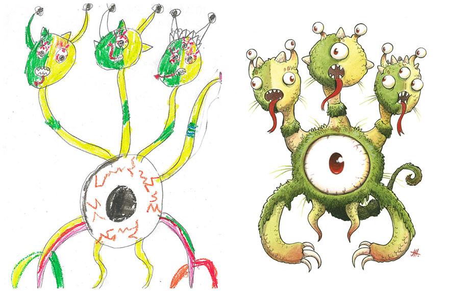 dibujos nenes 10
