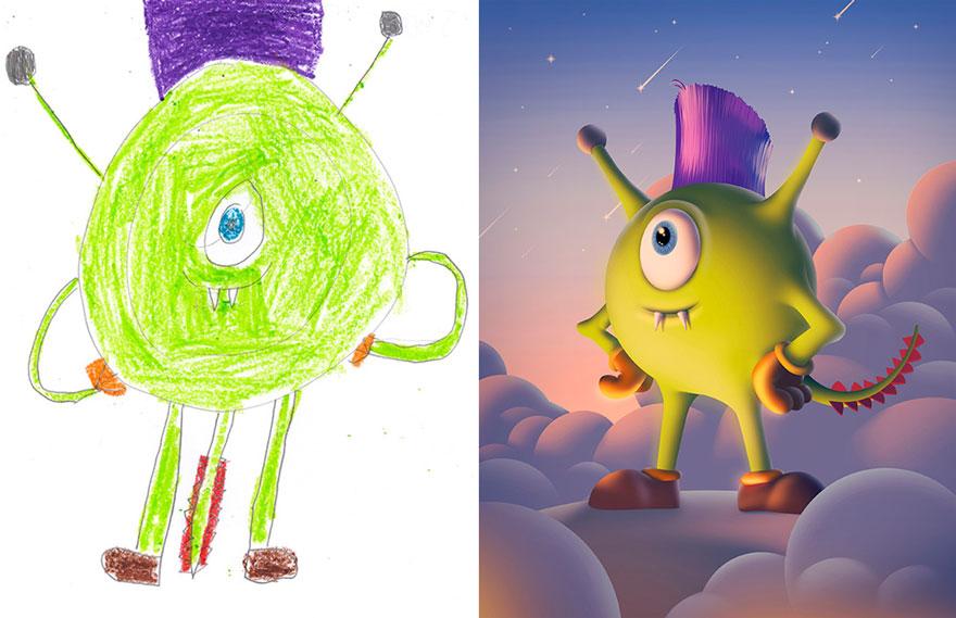 dibujos nenes 12