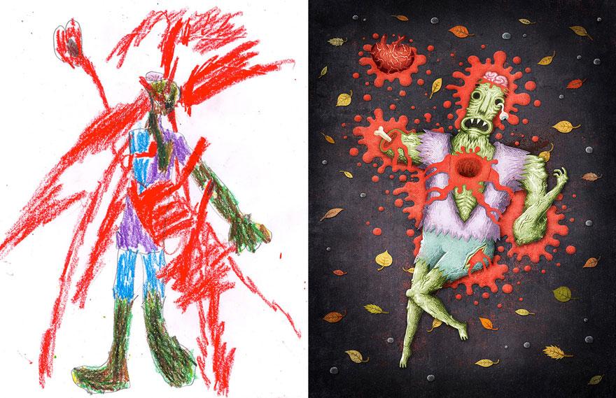 dibujos nenes 17
