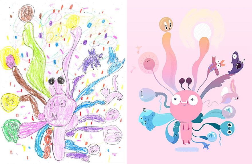dibujos nenes 3
