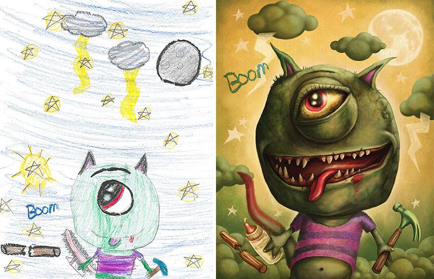 dibujos nenes 8