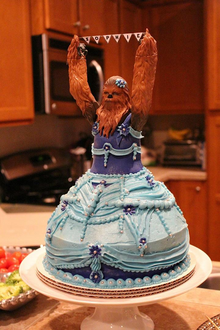 pastel princesa chewbacca