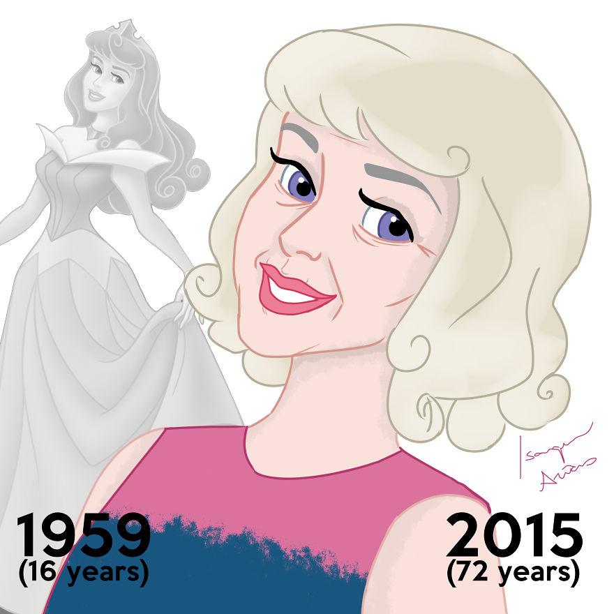 princesas Disney edad real 7