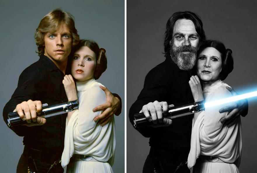 antes y ahora Star Wars 3
