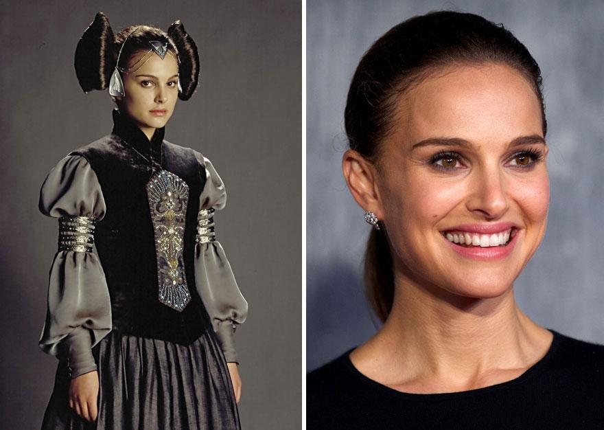 antes y ahora Star Wars 4