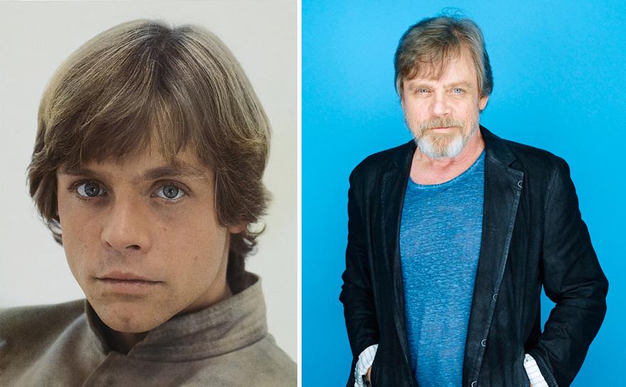 antes y ahora Star Wars 8