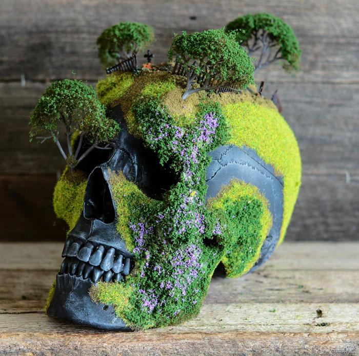 calaveras con bonsais 3