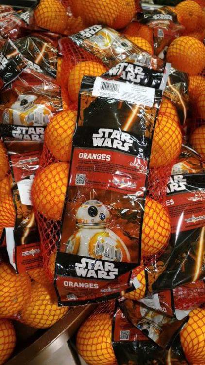 naranjas Star Wars
