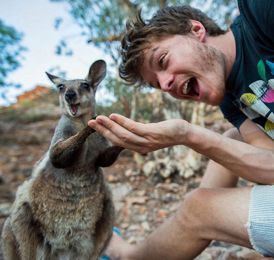 selfies con animales 11
