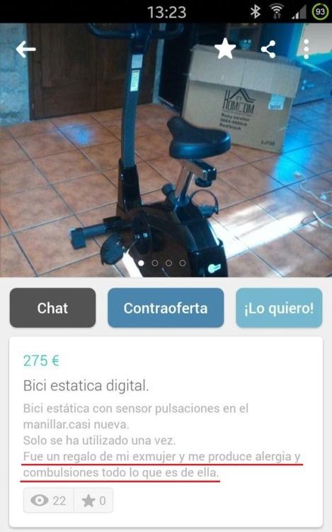 85d30ead0 Wallapop y sus divertidos comentarios - Donvago.com