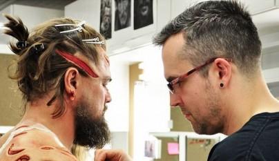 Leonardo DiCaprio herido para una pelicula