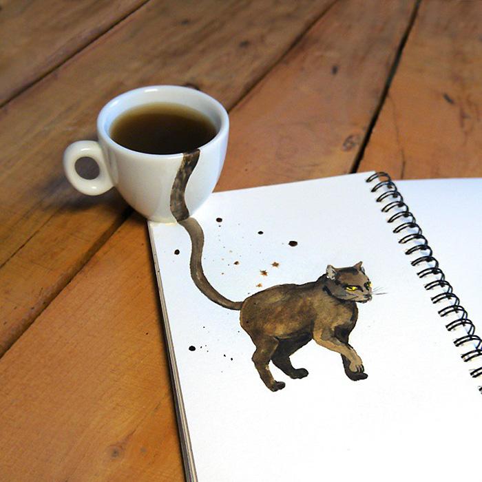 fan del cafe y los gatos 1