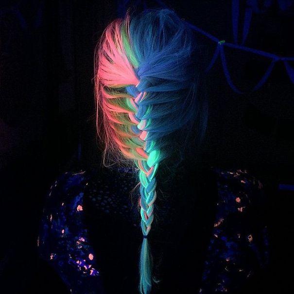 pelo arcoiris brilla oscuridad 1