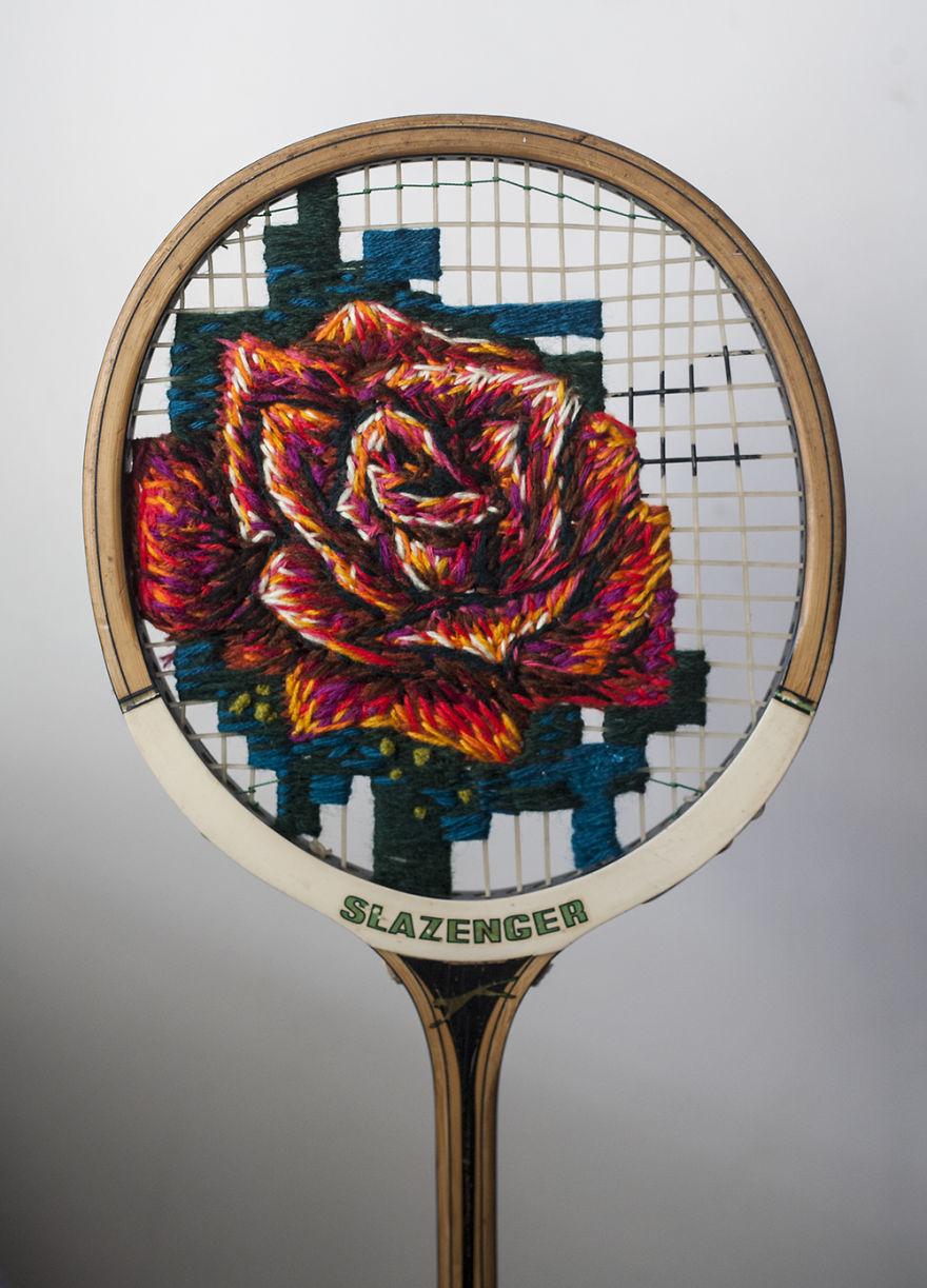 raquetas de tenis con bordados 4
