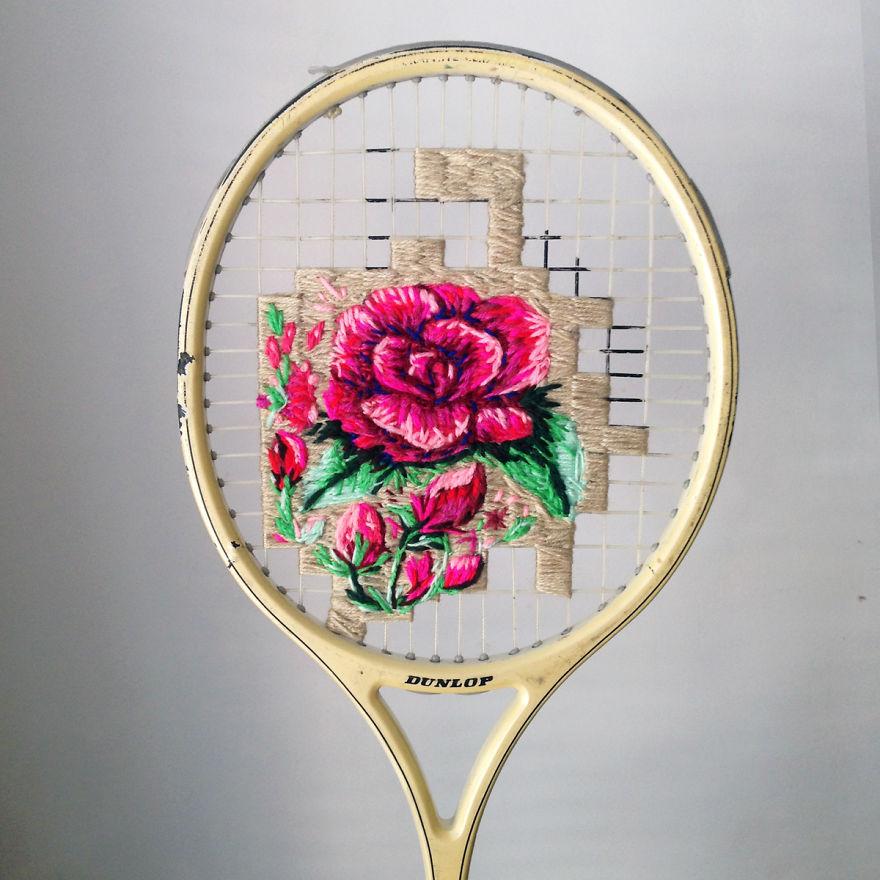 raquetas de tenis con bordados 5