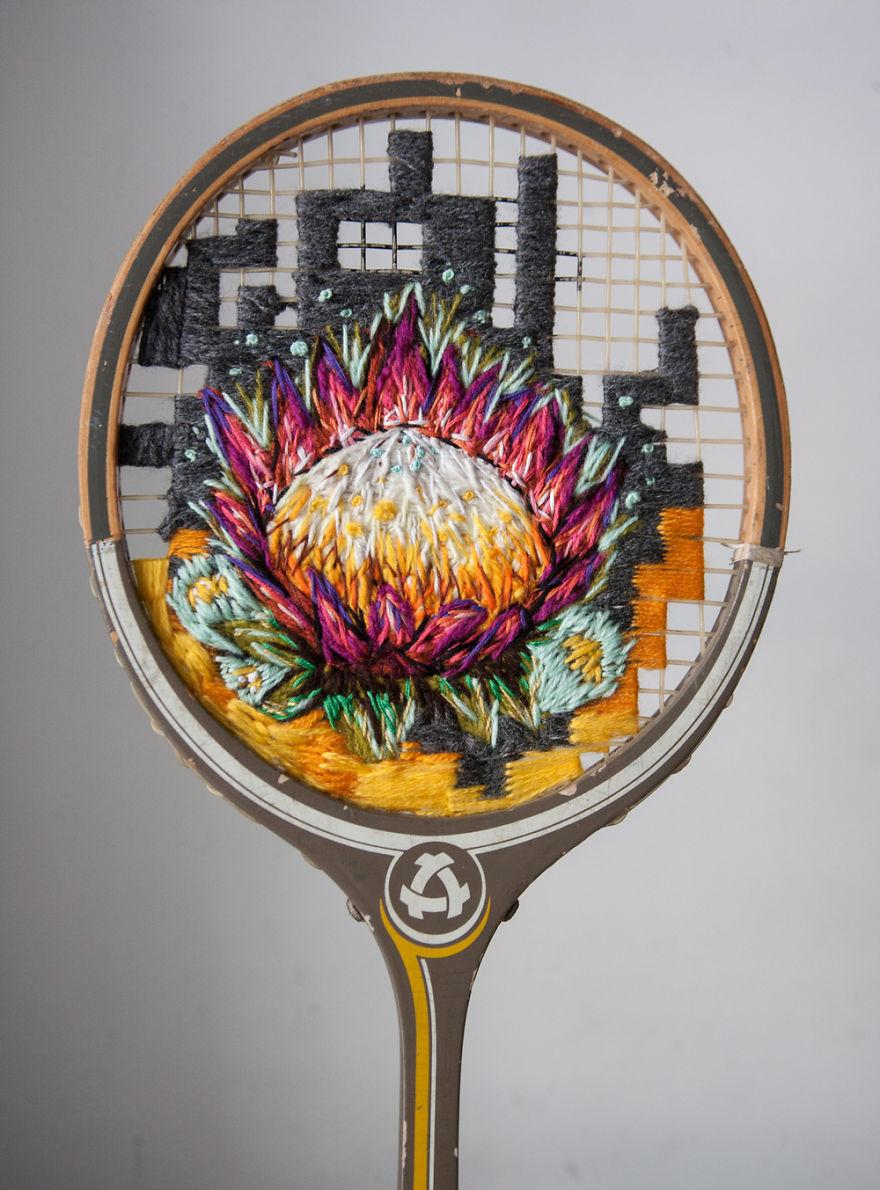 raquetas de tenis con bordados 6
