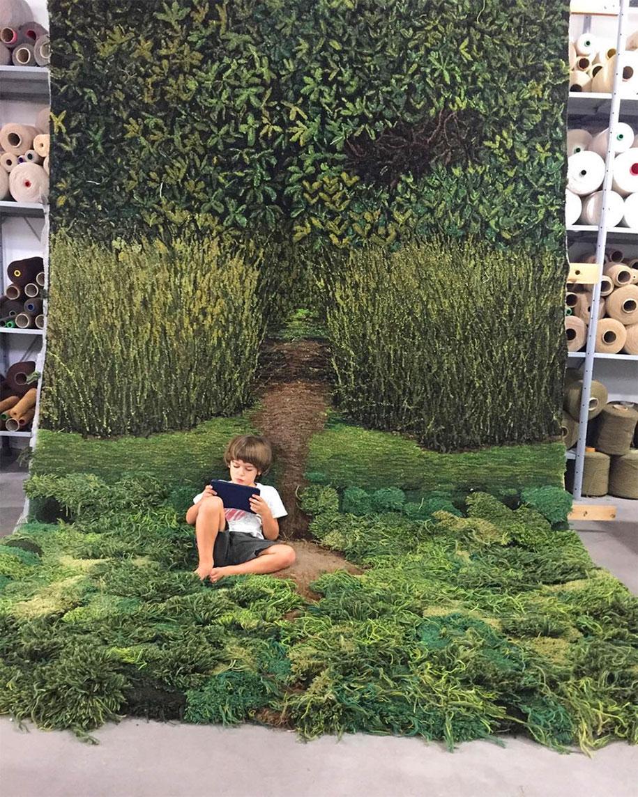 alfombra que te hara sentir como en el bosque 1