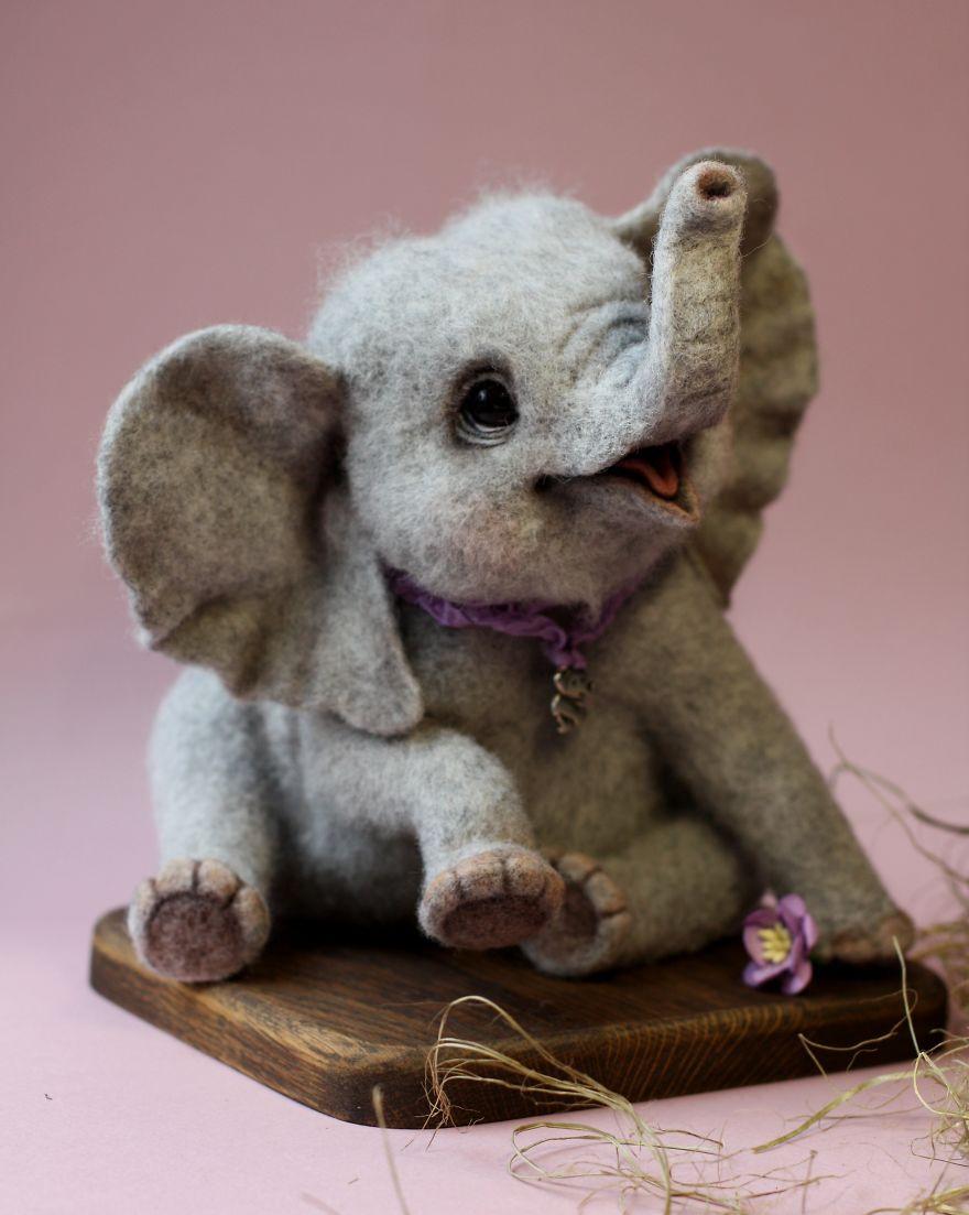 animales hechos con lana 5